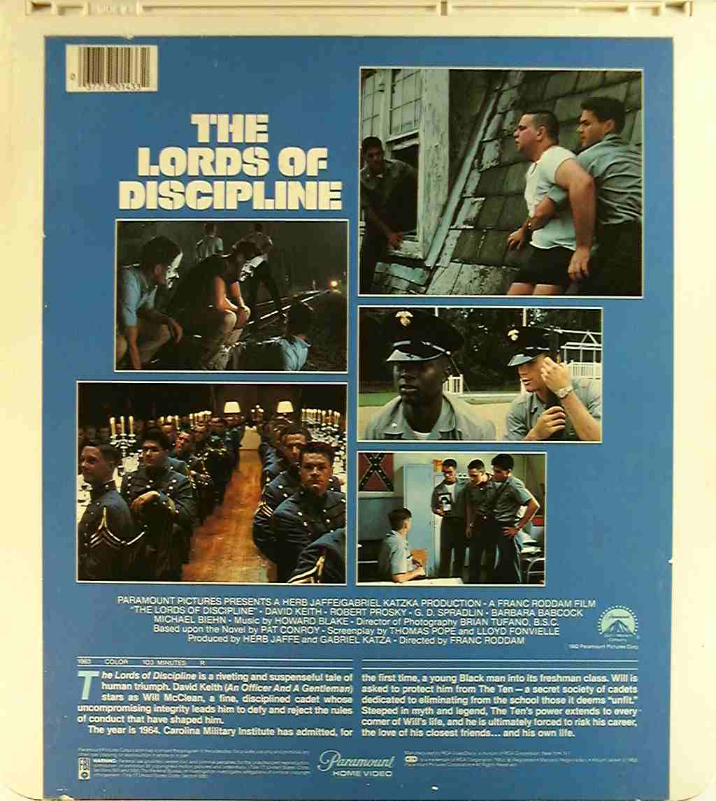 lords of discipline the 37757014332 u side 2 ced